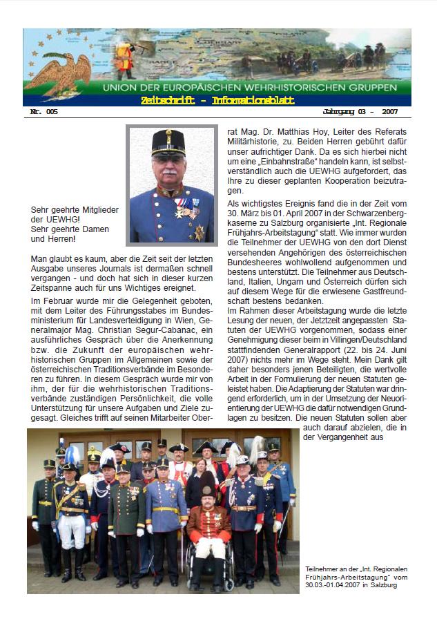 Titelseite Ausgabe Nr. 5